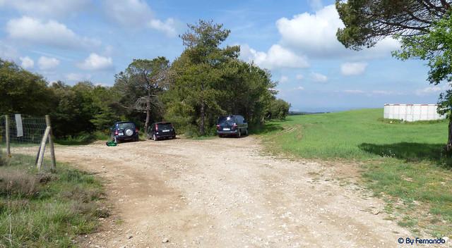 Moià - Acceso Montbrú, Revolt de l'Àliga -03- Por Montbrú -02- Parking