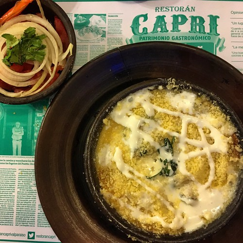 Chupe de mariscos en Restaurante Capri #Valparaíso