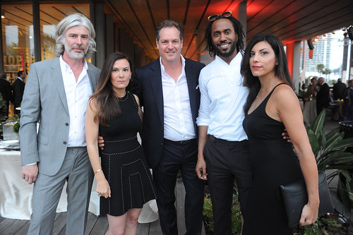 Mark Handforth, Sarah Harrelson, Austin Harrelson, Rashid Johnson, & Sheree Hovsepian at PAMM Art of the Party Presented by Valentino