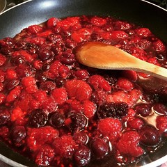 mixed berry compote❤︎  #strawberry #raspberry #blackberry #sourcherry #osaka #japan #苺 #木苺 #ブラックべりー #サワチェリー #大阪 #コンポート #compote
