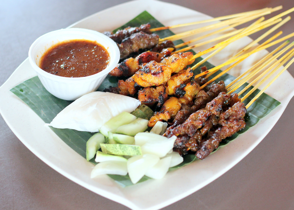 Singapore Street Food: Haron Satay Platter