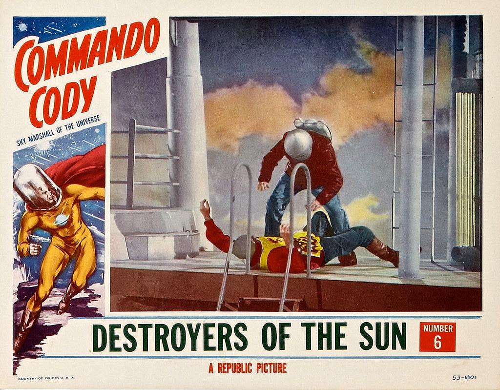 "Commando Cody (Republic, 1953). Lobby Card (11"" X 14"") Cha ..."