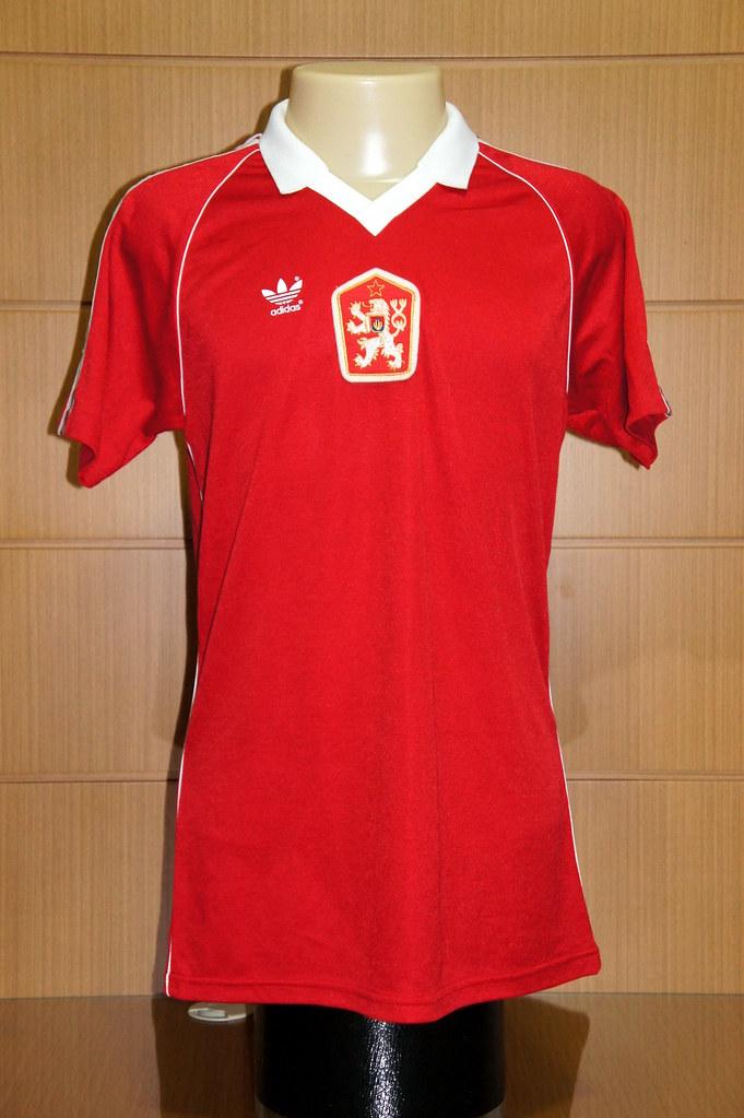 Czechoslovakia 1985 Home Shirt Match Worn Shirt Worn