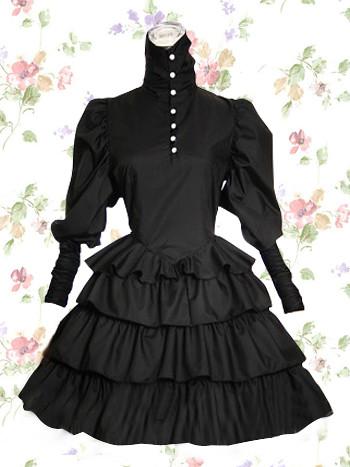 Flickr No thdress Bomull Lolita Kjole Gothic … Svart Kjoler 481wqXP