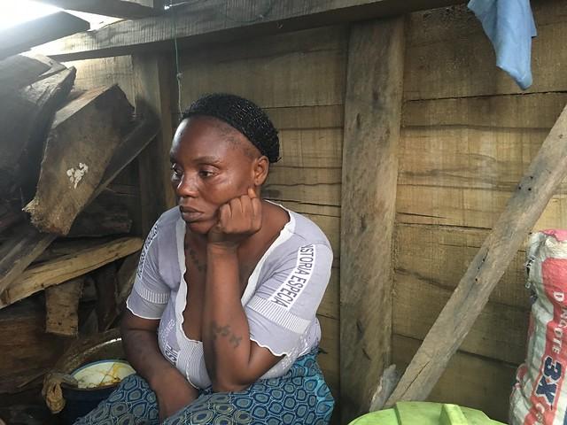 Otodo Gbame evictee on the Lagos Lagoon