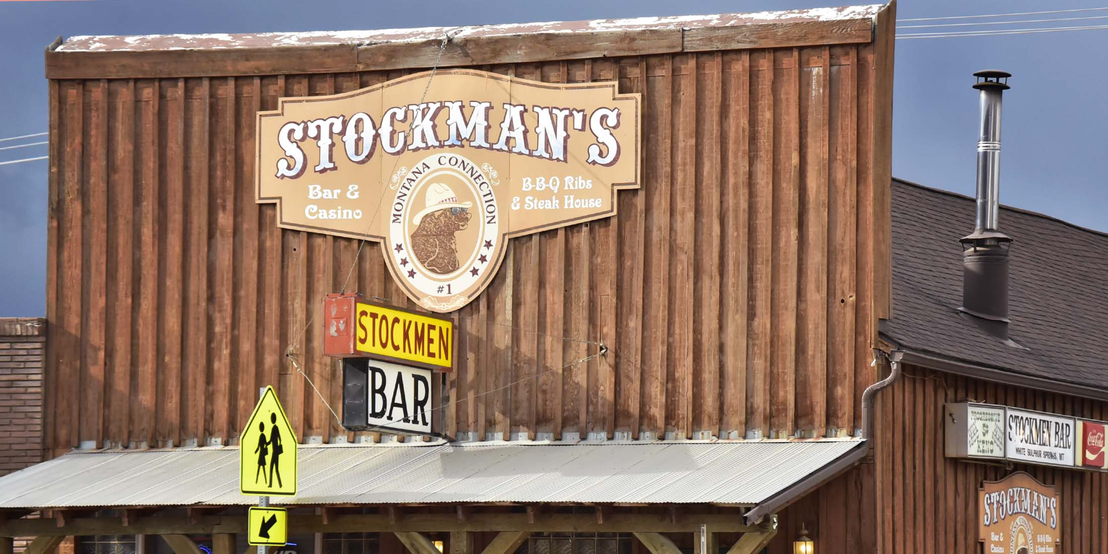 The Stockman Bar is located on Main Street in downtown White Sulphur Springs, Montana - Meagher County.