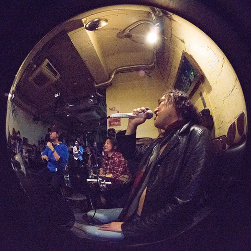 Closing session at Golden Egg, Tokyo, 19 Mar 2017 - fisheye-00044