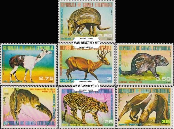 Známky Rovníková Guinea 1977 Juhoamerické zvieratá, raz. séria