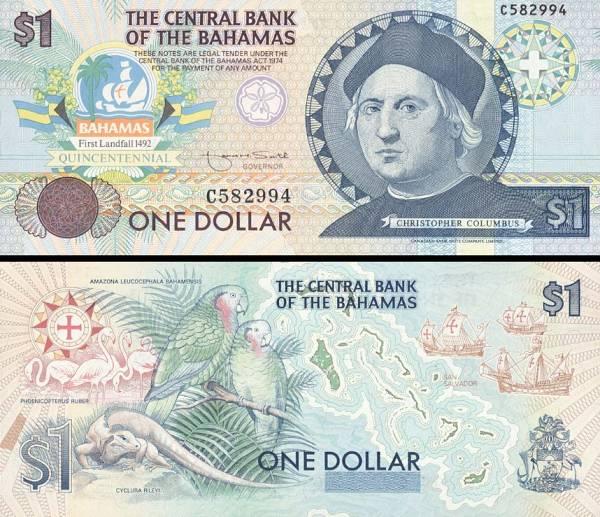 1 Dolár Bahamy 1994, pamätné vydanie P50a