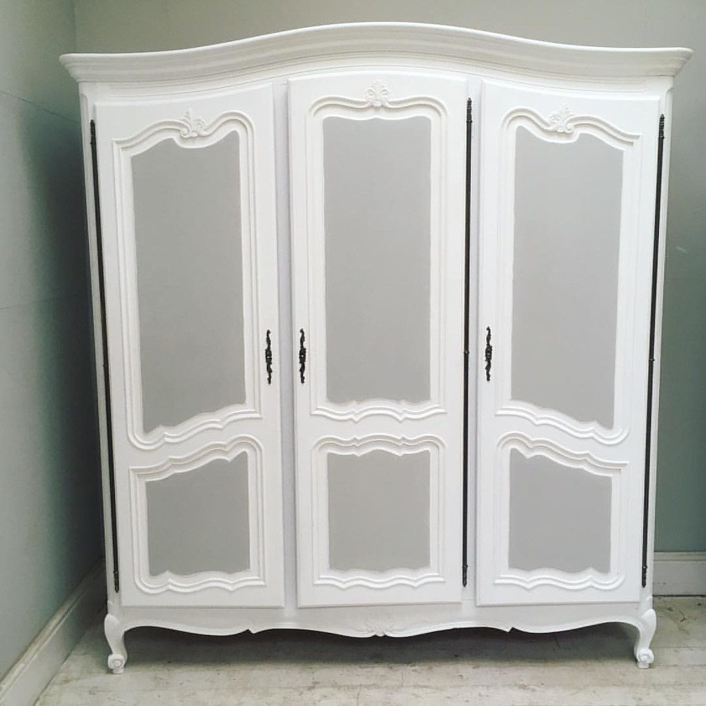 ... Latest Vintage French Armoire / #french #furniture #armoire #vintage  #painted #