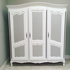 Latest Vintage French Armoire / #french #furniture #armoire #vintage  #painted ...