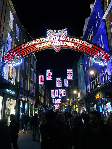 11 Dec 2016: Christmas Lights @ Carnaby Street | London, England | by go.awaylobster.com