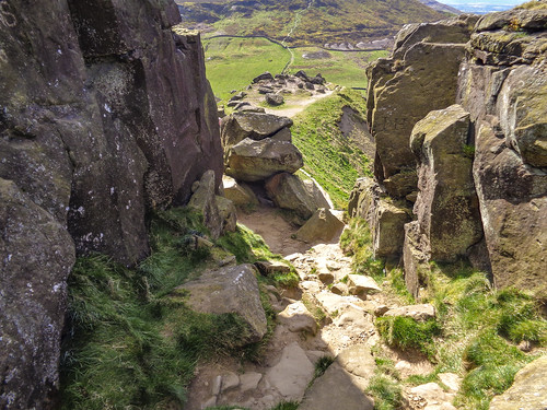 Looking back from the Wainstones
