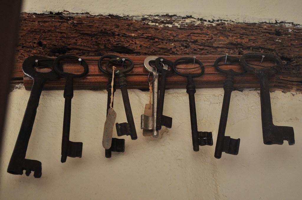 peg board holding keys, Monastery of Odigitria, Crete