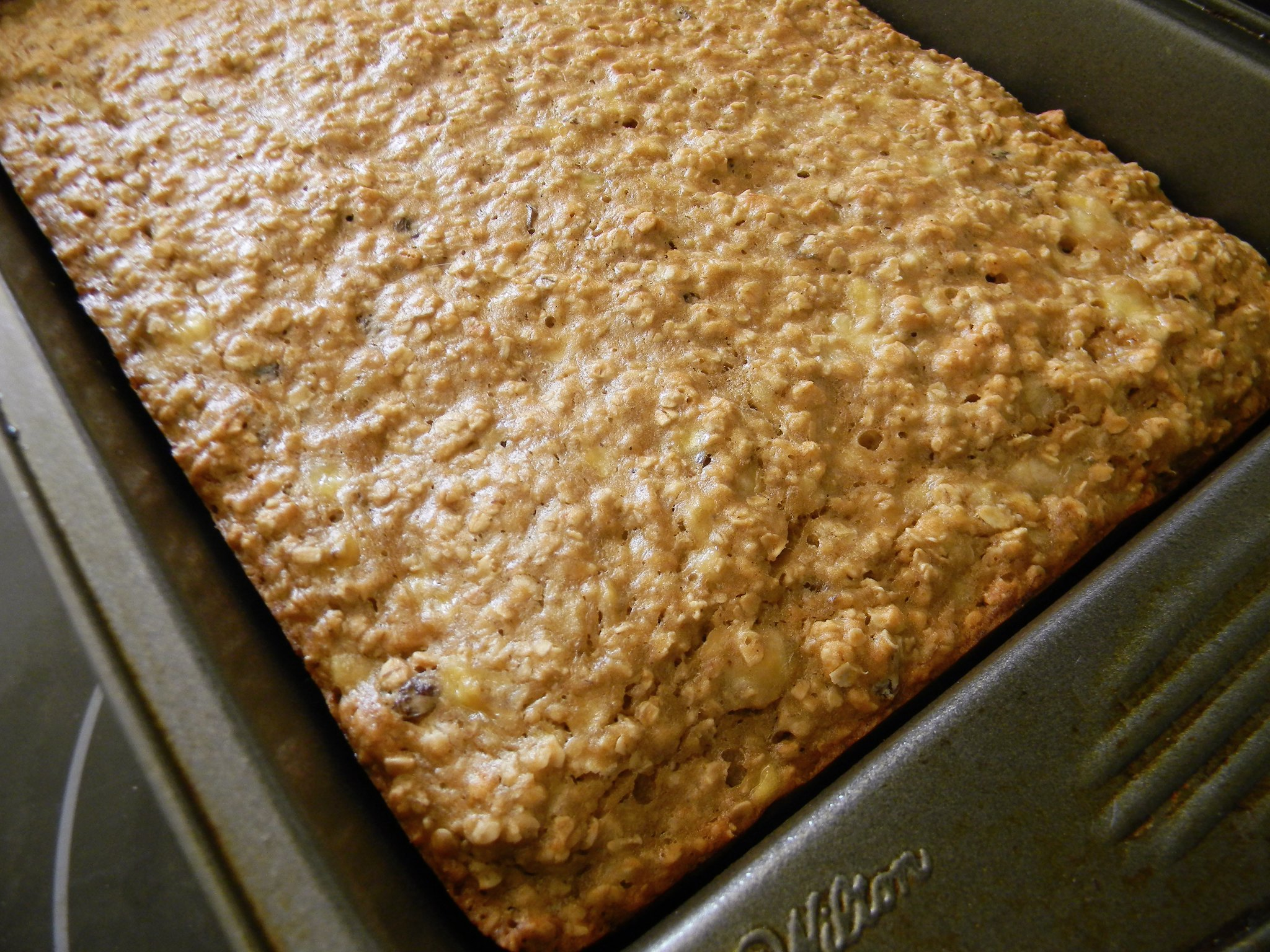 Oatmeal Raisin Banana Squares