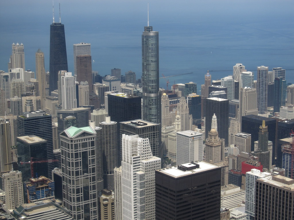 Trump International Hotel And Tower From Willis Tower Skyd
