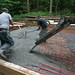 Pete & Chris Spreading Concrete