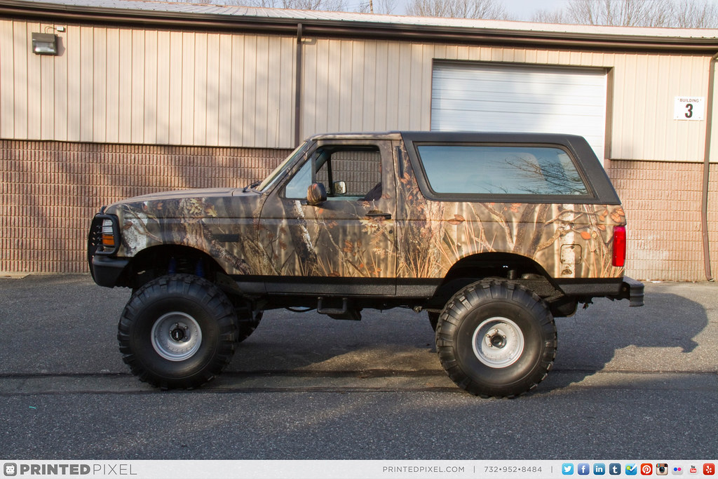 Ford Bronco Whitetail Camouflage Wrap Lifted Ford
