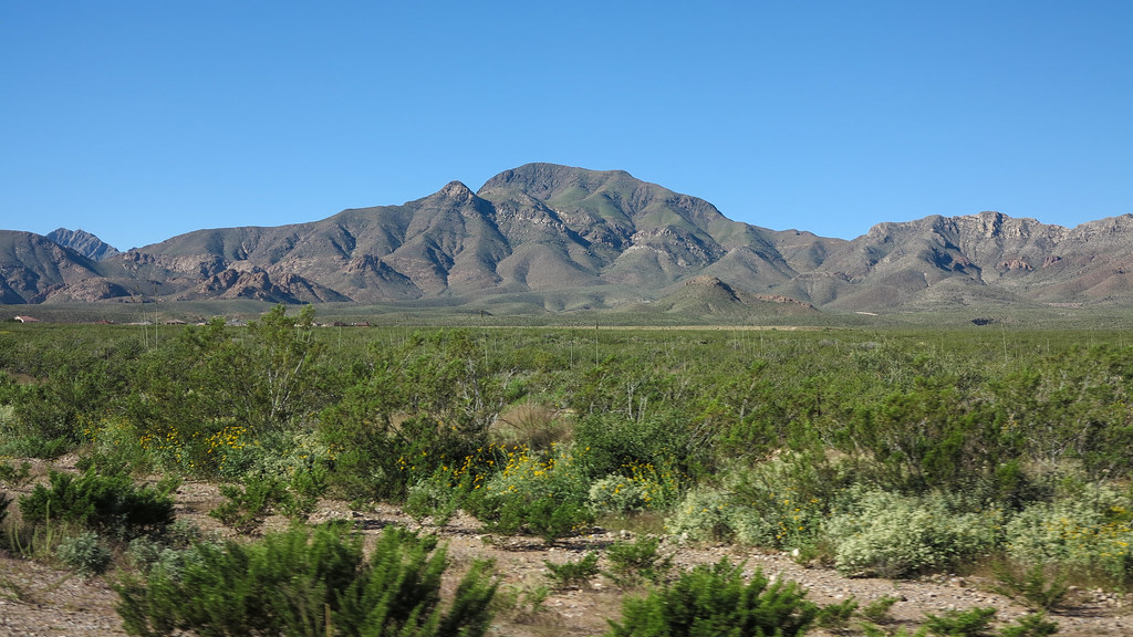 Franklin Mountains West Of El Paso Texas Taken From The