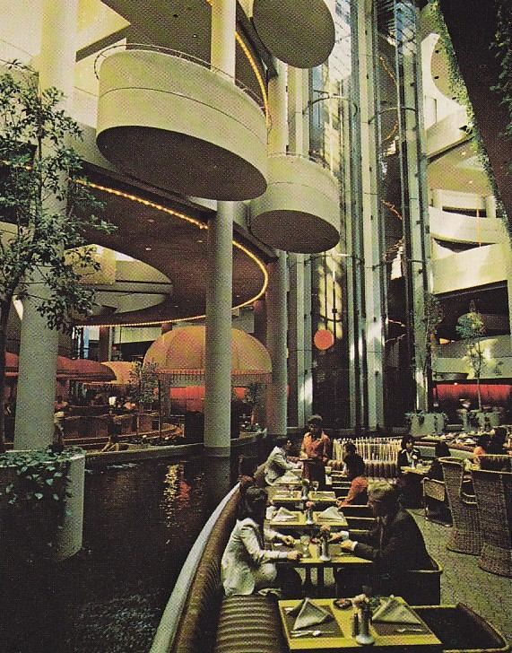 Bonaventure Hotel Interior View Image Scanned From