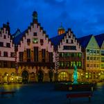 Frankfurt, Römer (Rathaus) auf dem Römerberg -- Frankfurt, Roemer (city hall) on the Roemer Hill