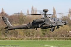 ZJ186 - 2005 build Westland Apache AH.1,  inbound to Barton for fuel & brief stopover