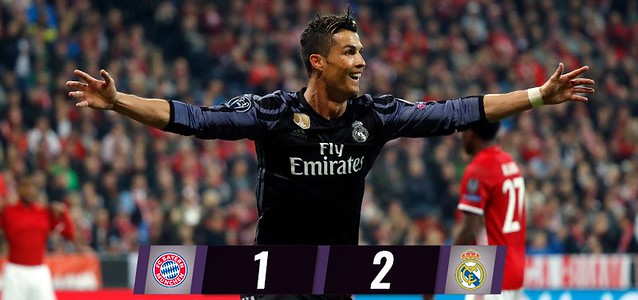 Champions League - Cuartos de Final (Ida): Bayern de Múnich 1 - Real Madrid 2