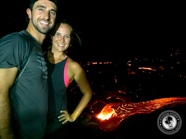 A Cruising Couple At A Lava Field in Hawaii