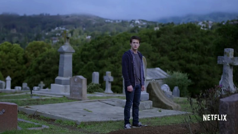 Cemetery shoot scene with clay