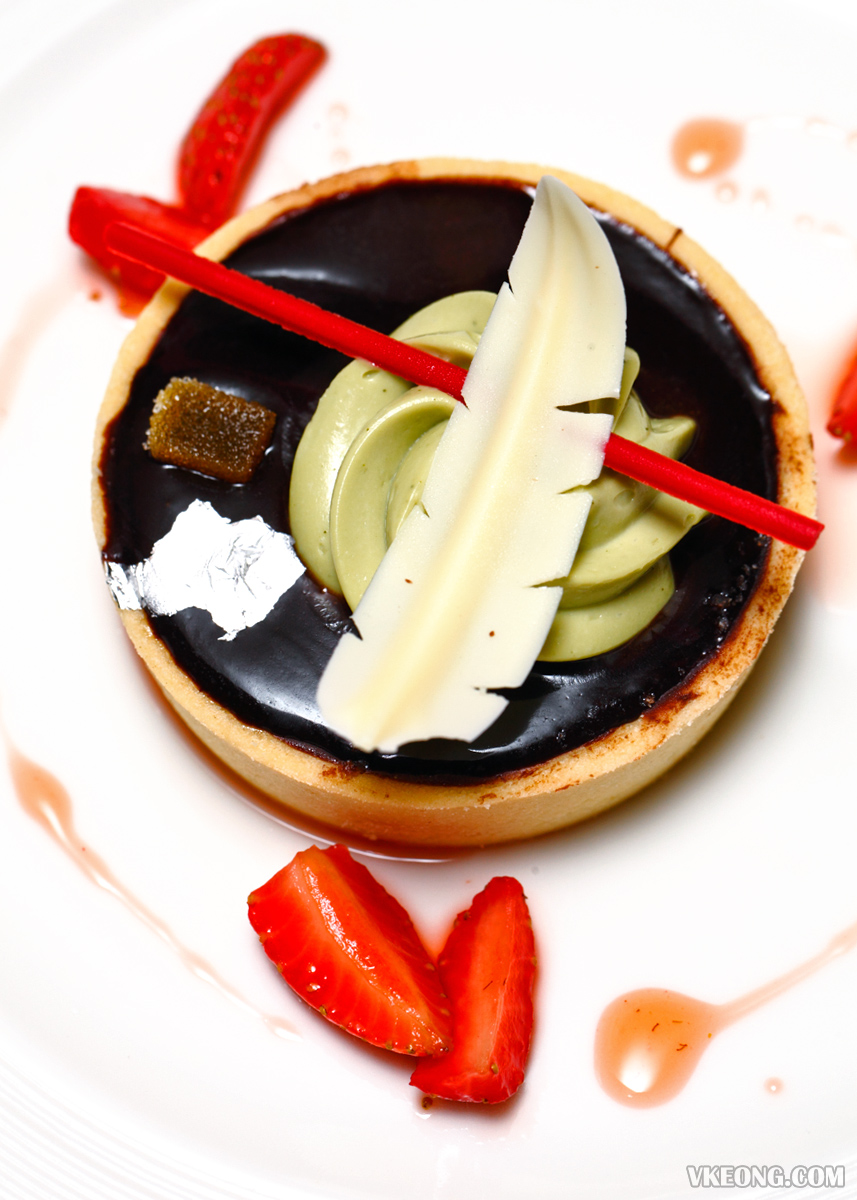 Chocolate Tart with Caramelized Yuzu