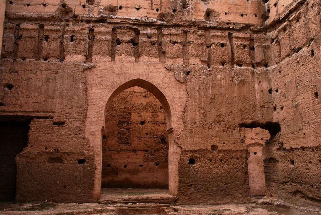 Ce qu'il reste du somptueux et gigantesque palais des Saadiens à Marrakech.