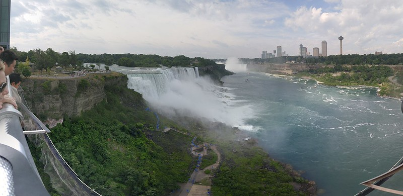 Panoramic view of Niagara Falls from Observation Tower
