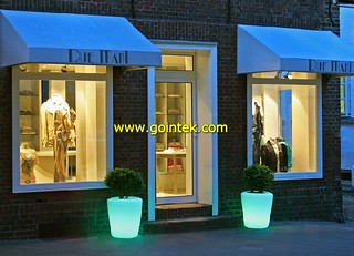 Bulk Light Flower Pots With Hight 138cm,New LED Solar Pot,LED Square Vase | by www.gointek.com