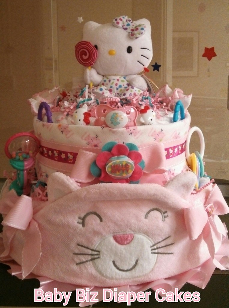 Kitty Kitty Feat Hello Kitty 2 Tier Diaper Cake Sherlene Flickr