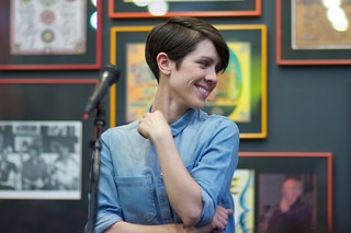 Sara of Tegan and Sara at Twist & Shout | by fairangels