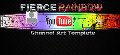 fierce rainbow youtube channel art template download the f flickr. Black Bedroom Furniture Sets. Home Design Ideas