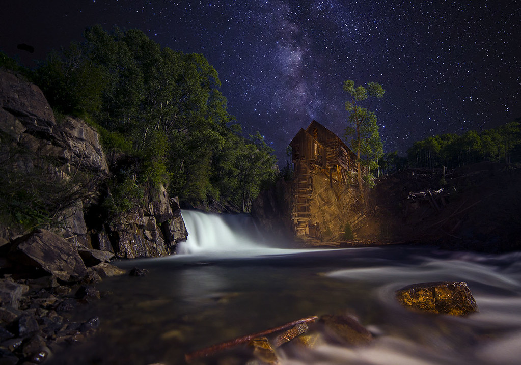 Crystal Mill and the Milky Way | A Colorado icon, 2 minute ...