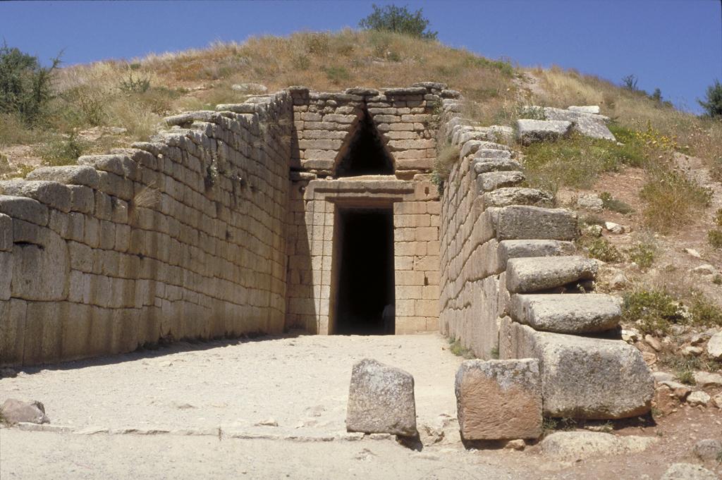 "Tholos (""beehive"") tomb (called the ""Treasury of Atreus"" o ..."