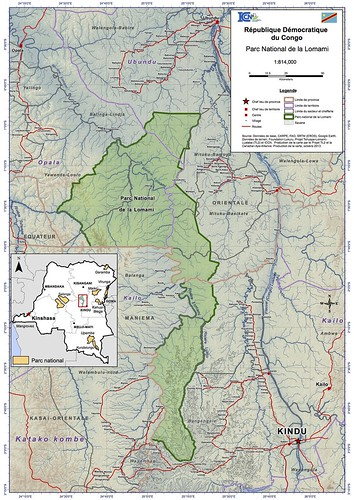 2013 map of the Lomami National Park | by teresehart