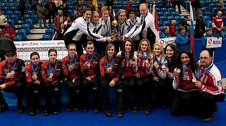 Saint John N.B.Mar23_2014.Ford World Woman's Curling Championship.Gold Medal Team Switzerland,Silver Medal Team Canada,Bronze medal Team Russia.CCA/michael burns photo | by seasonofchampions