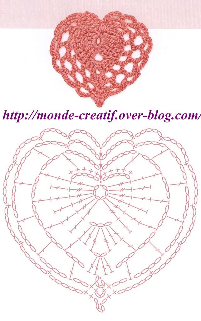 cœurs au crochet