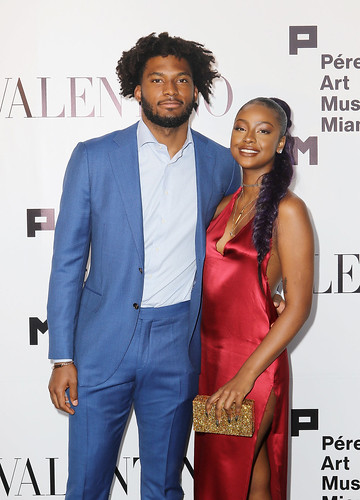 Justise Winslow and Justine Skye at PAMM Art Of The Party Presented By Valentino