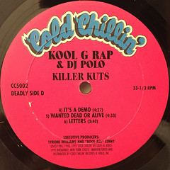 KOOL G RAP & DJ POLO:KILLER KUTS(LABEL SIDE-D)