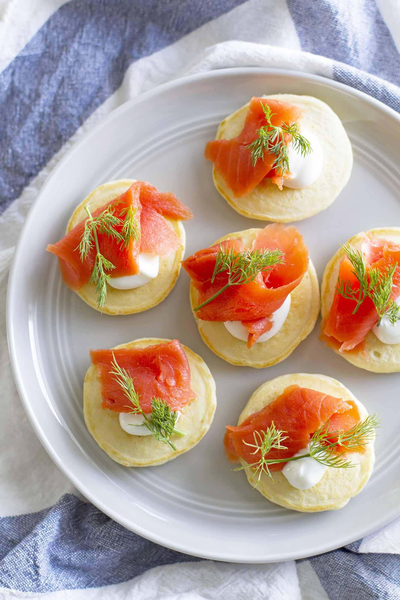 Salmon and Dill Pancake Blinis | girlversusdough.com @girlversusdough