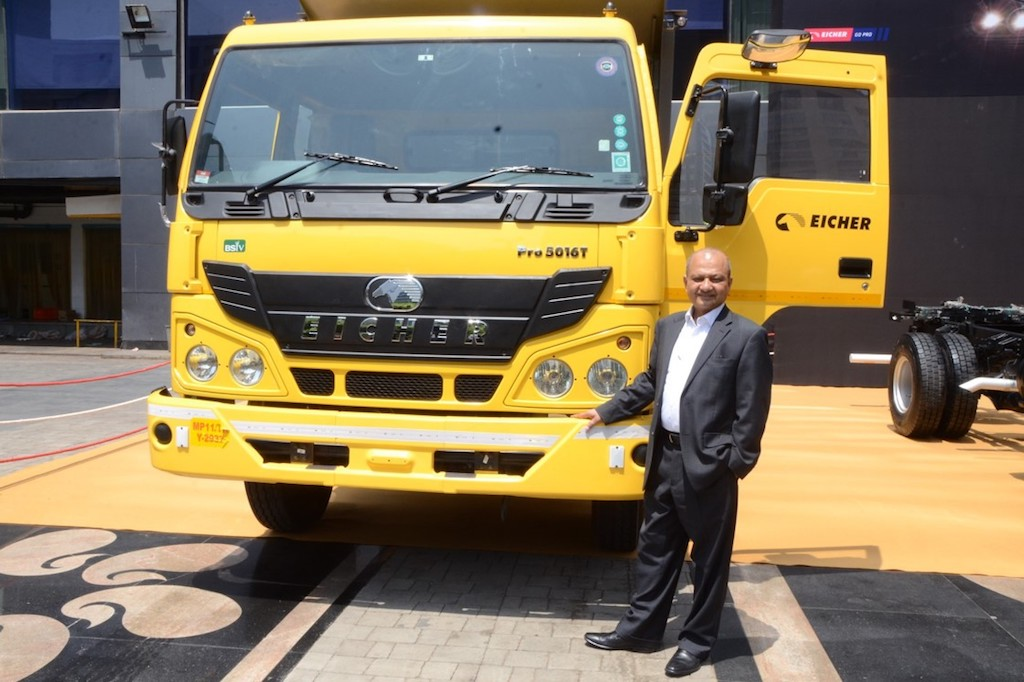 Mr Vinod Aggarwal, MD & CEO, VE Commercial Vehicles launches Pro 5000 HD Series today