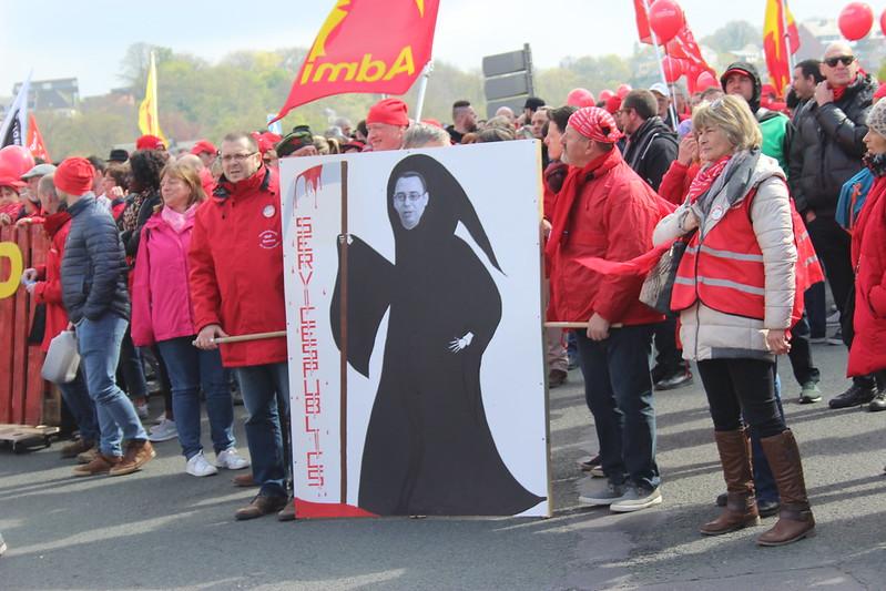 28 avril 2017 - Manifestation - Service public des soins de santé (Namur)