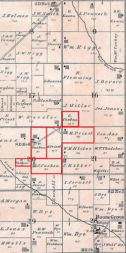 1876 Casbon_Priest land Porter twp