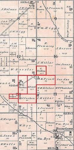 1876 Casbon_Priest land Porter twp