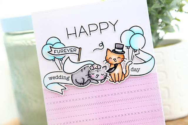 Lawn Fawn + Xyron week - wedding cats