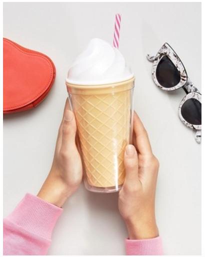 ice cream cone travel cup
